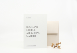 trouwkaart simple elegance