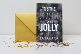 kerstkaarten met envelop - 10 stuks