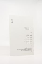 trouwkaart met label - pure simplicity