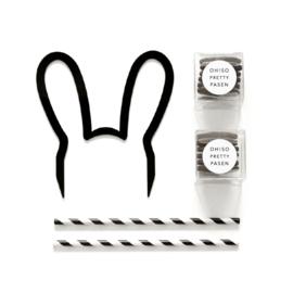 caketopper konijnen oren