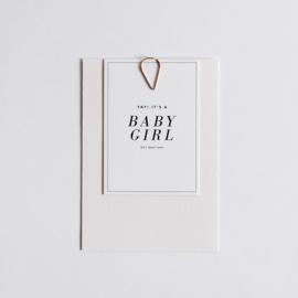 """geboortekaartje - soft & bold """"Lola"""""""
