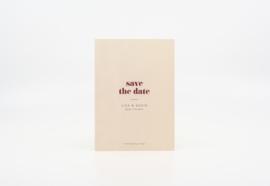 save the date - bold & modern
