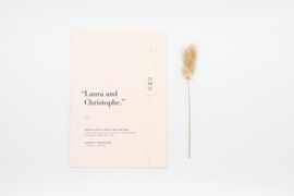 trouwkaart soft & simplistic