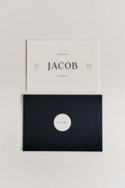 """geboortekaartje - puur & eenvoud """"Jacob"""""""
