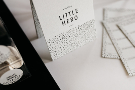babyshower & kraamfeest invulkaarten - Little Hero