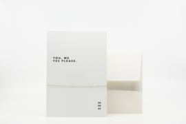 trouwkaart modern minimal