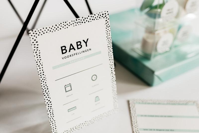 babyshower invulkaarten mint