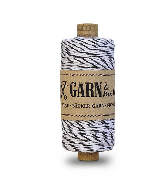 Garn & Mehr bakers twine - zwart wit