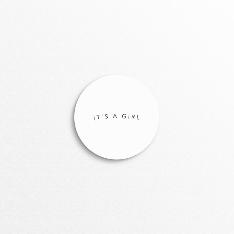 sluitzegel - it's a girl