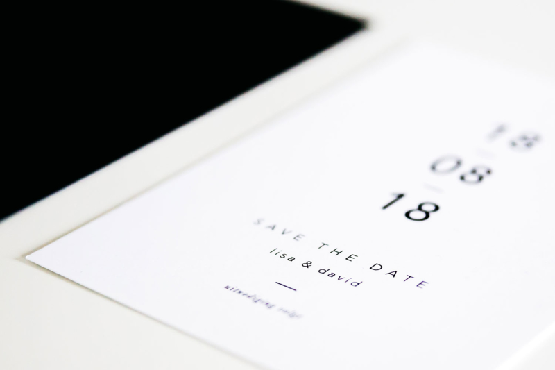 save the date - modern minimal