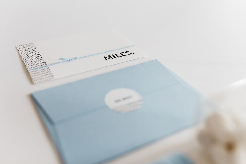 "geboortekaartje streepjes ""Miles"""