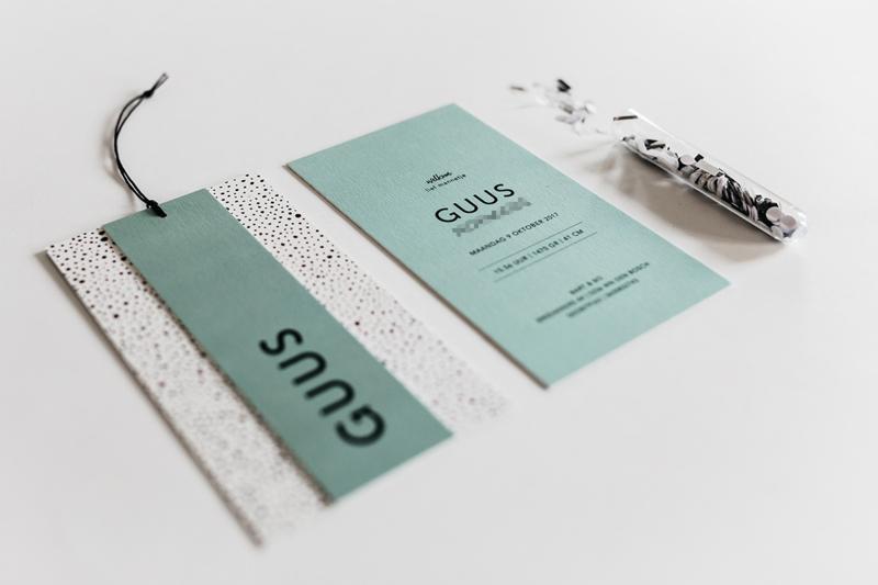 """geboortekaartje naamlabel """"Guus"""""""
