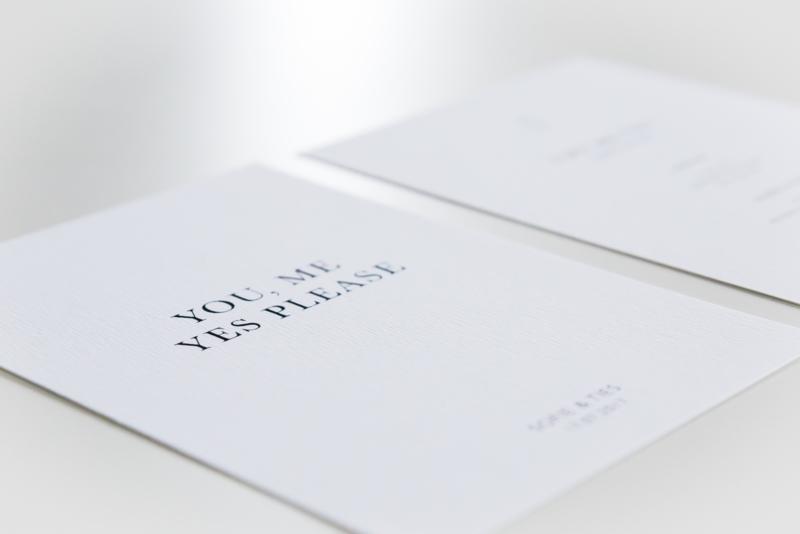 trouwkaart minimal classic
