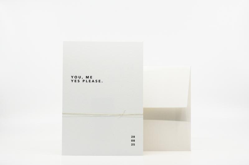 trouwkaart - modern & minimal