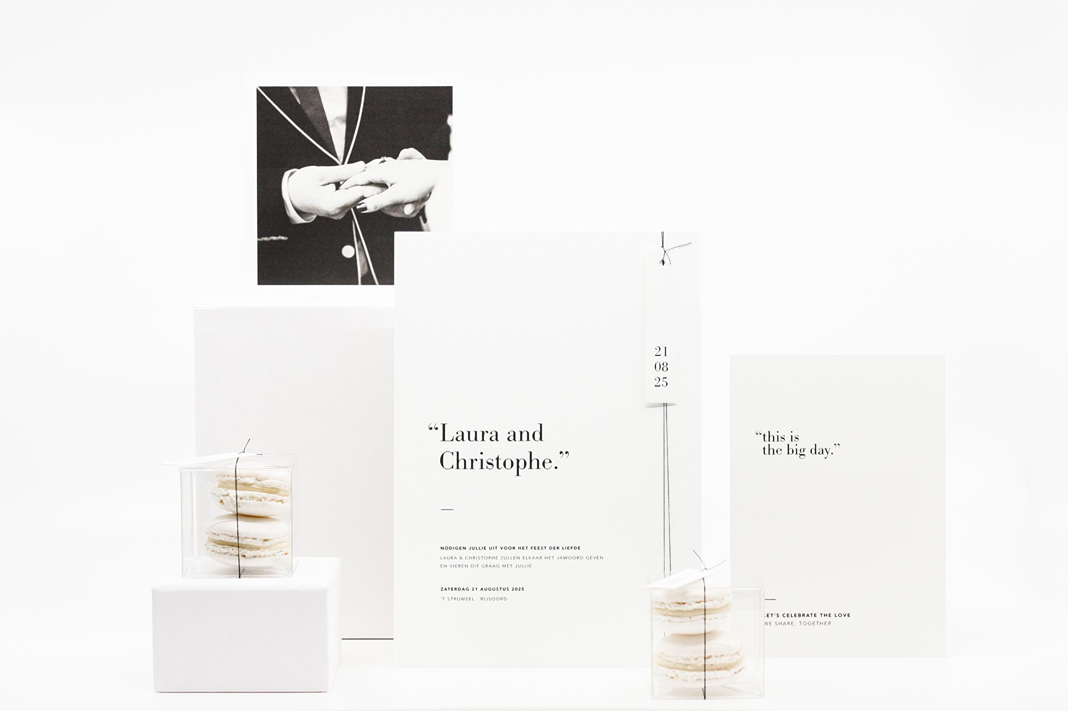 minimal verfijnd trouwkaarten