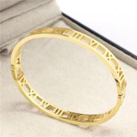 Roman Love Bracelet Goud