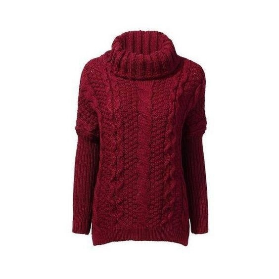 Cable knit sweater - One Size -