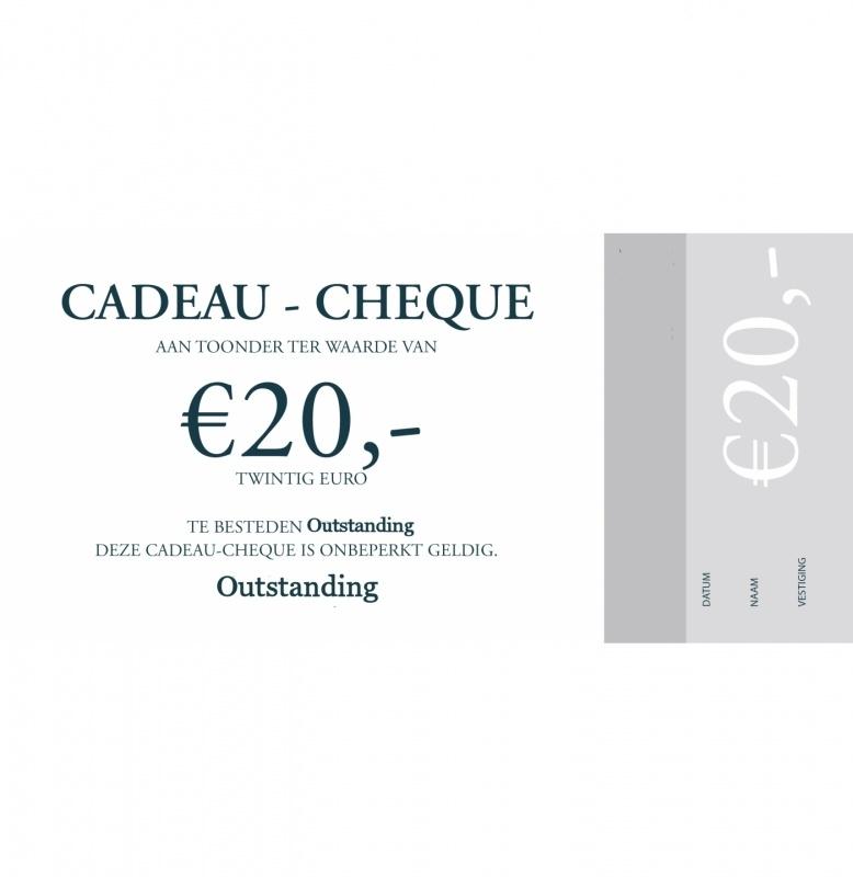 Cadeaubon 20,00 Euro en 50,00 Euro