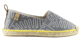 FACTOR TREE -  espadrilles blauw/graphit print  model 104