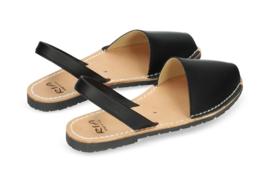 RIA MENORCA Spaanse sandaaltjes handgemaakt - model zwart