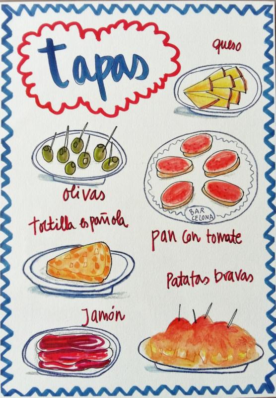 TAPAS food print A4 - Nuria Marques