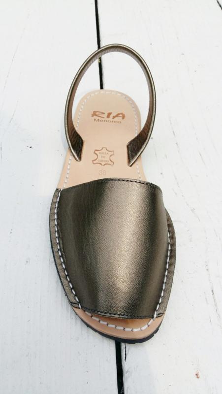 RIA MENORCA  Spaanse sandaaltjes avarcas handgemaakt -  model metallic brons-viega