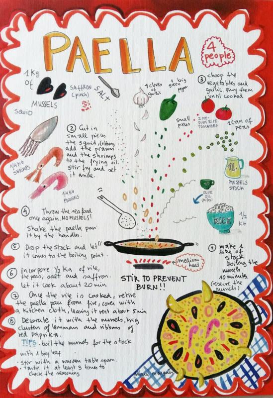 PAELLA food print A4 - Nuria Marques