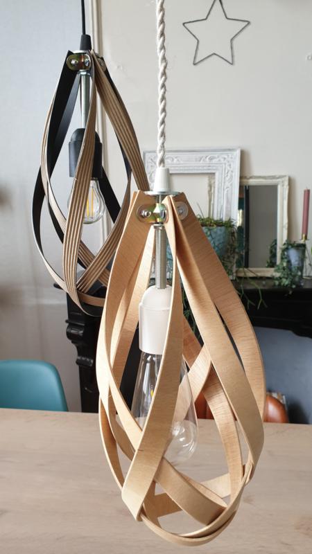 Lamp handgemaakt TONYLIGHT MADERA  by Felix Lozal Barcelona
