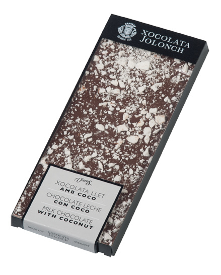 TORRONS VICENS CHOCOLADE - extrafine melk chocolade met cocos