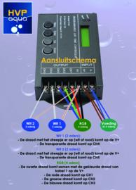 5 kanaals LED controller programmeerbaar
