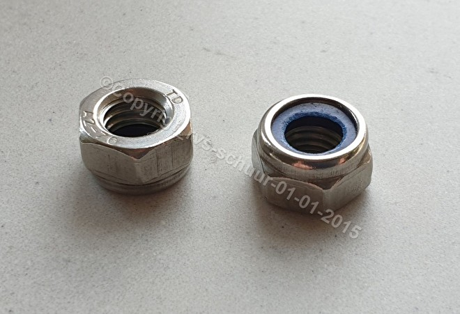 Din 985. ISO 10511. RVS A2. Borgmoer