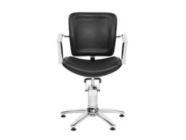 Sibel - kappersstoel - George V - Zwart/Bruin - 0190103