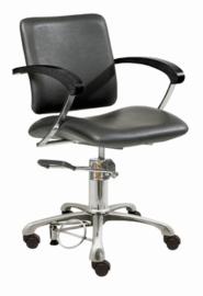 Comair - kappersstoel - London C - zwart - 7000048