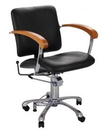 Comair - kappersstoel - London -  zwart/beuken - 3070032