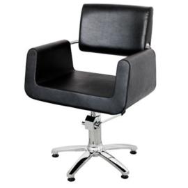 Sibel - kappersstoel - Garonne - Zwart/Bruin - 0190107