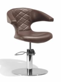 Sibel - kappersstoel - Sensualis - Zwart/Zwart Croco/Bruin - 0180868