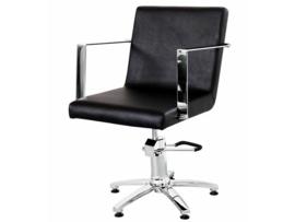 Sibel - kappersstoel - Meuse - Zwart/Bruin - 0190109