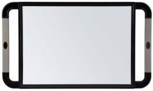 Sibel - Handspiegel - V-Design - Zwart - Rubberen Handvaten