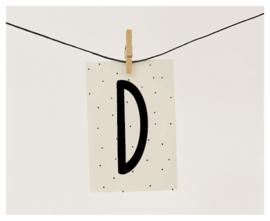 Naamslinger letter D
