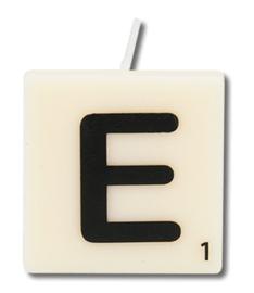 Letterkaars - E