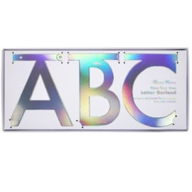 "Word banner ""holographic silver"""