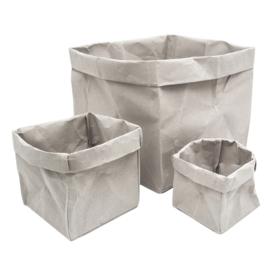 HOP - Paperbag M grijs