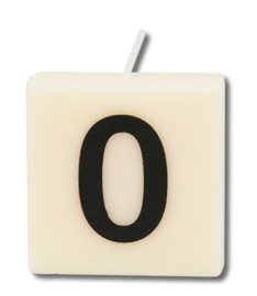 Letterkaars - 0 (cijfer)