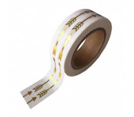 Masking tape gouden pijlen