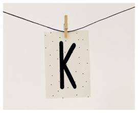 Naamslinger letter K