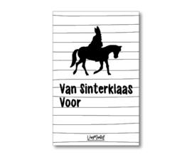 Kadokaart |  Van Sinterklaas voor (met paard)