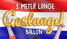 Folieballon Geslaagd
