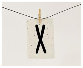 Naamslinger letter X