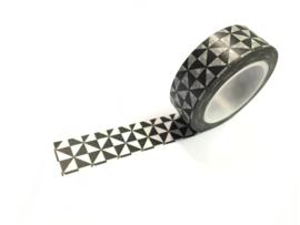 Masking tape zwart driehoek