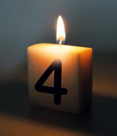 Letterkaars - 4 (cijfer)